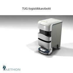 Sairaalan käytävillä kulkevat robotit tekevät töitä 24/7
